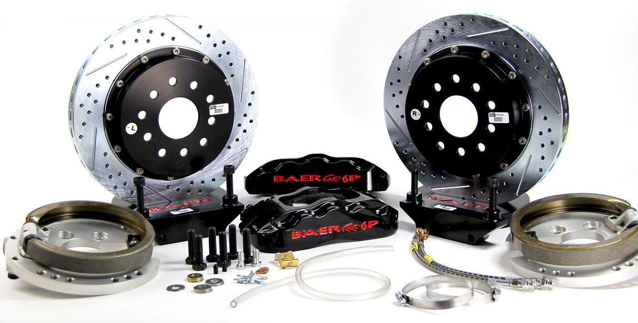 Baer Pro Plus Rear 4-Lug Brake Kit w/ 14 in. Rotors - Black (79-93 All)