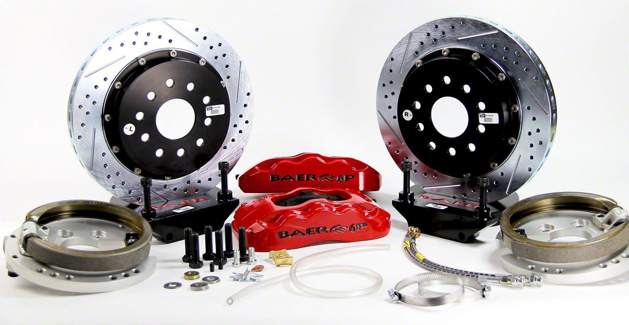 Baer Pro Plus Rear 4-Lug Brake Kit w/ 14 in. Rotors - Red (79-93 All)