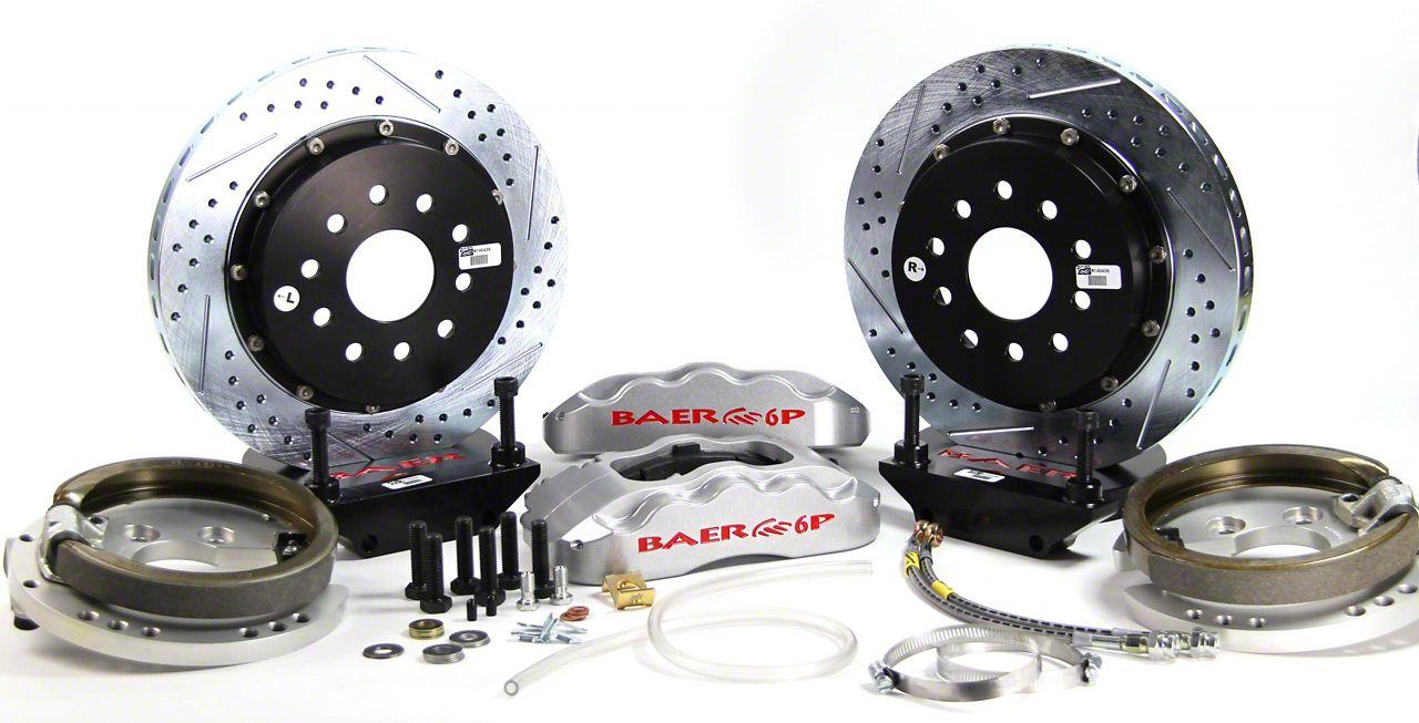 Baer Pro Plus Rear 4-Lug Brake Kit w/ 14 in. Rotors - Silver (79-93 All)