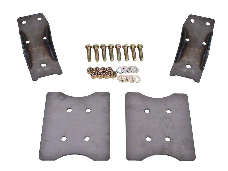 BMR Lower Torque Box Reinforcment Plates - Hammertone (79-04 All)