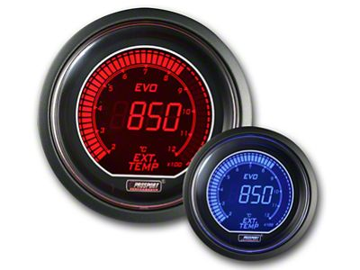 Prosport Dual Color Evo Exhaust Gas Temperature Gauge - Electrical - Red/Blue (79-19 All)
