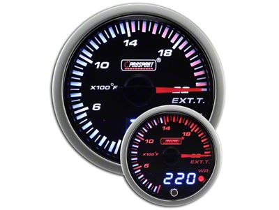 Prosport JDM Exhaust Gas Temperature Gauge - Electrical (79-19 All)