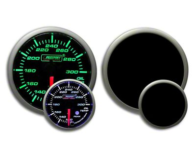 Prosport Dual Color Premium Oil Temperature Gauge - Green/White (79-19 All)