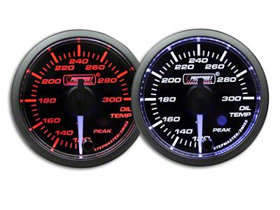 Prosport Dual Color Premium White Pointer Oil Temperature Gauge - Amber/White (79-19 All)