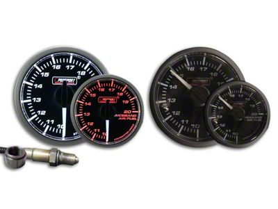 Prosport Dual Color Premium White Pointer Wideband Air Fuel Ratio Kit - Amber/White (79-19 All)