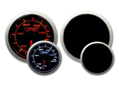 Prosport Tri-Color Halo Oil Temperature Gauge - Amber/White/Blue (79-19 All)