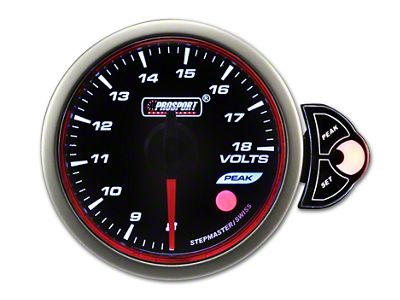 Prosport Tri-Color Halo Volt Gauge - Blue/White/Amber (79-19 All)