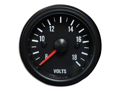 Prosport White LED Volt Gauge - Electrical (79-19 All)