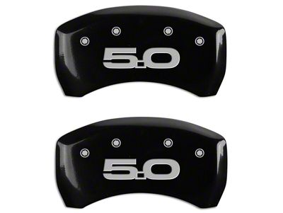 MGP Black Caliper Covers w/ 5.0 Logo - Front & Rear (15-19 GT w/ Performance Pack)