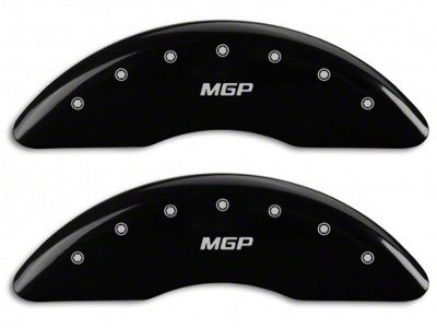 MGP Black Caliper Covers w/ MGP Logo - Front & Rear (15-19 EcoBoost w/ Performance Pack)