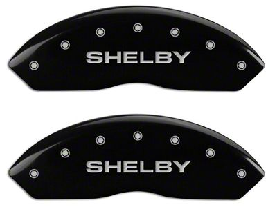 MGP Black Caliper Covers w/ Shelby Snake Logo - Front & Rear (94-04 Cobra)