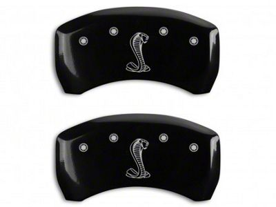MGP Black Caliper Covers w/ Tiffany Snake Logo - Rear Only (07-14 GT500)
