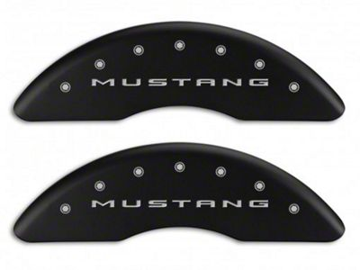 MGP Matte Black Caliper Covers w/ 5.0 Logo - Front & Rear (15-19 GT w/ Performance Pack)