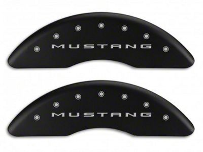 MGP Matte Black Caliper Covers w/ GT Logo - Front & Rear (15-19 GT w/ Performance Pack)