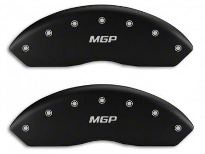 MGP Matte Black Caliper Covers w/ MGP Logo - Front & Rear (05-09 GT, V6)