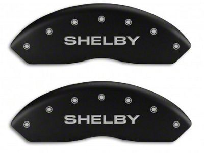 MGP Matte Black Caliper Covers w/ Shelby Snake Logo - Front & Rear (94-04 Cobra)