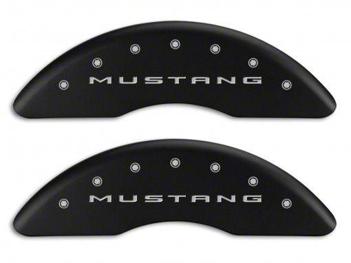 MGP Matte Black Caliper Covers w/ Tri-Bar Pony Logo - Front & Rear (15-19 GT w/ Performance Pack)