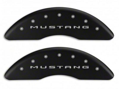 MGP Matte Black Caliper Covers w/ Tri-Bar Pony Logo - Front & Rear (15-19 EcoBoost w/ Performance Pack)