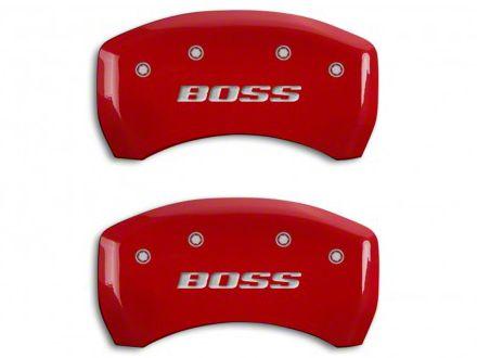 MGP Red Black Caliper Covers w/ BOSS Logo - Rear Only (12-13 BOSS 302)