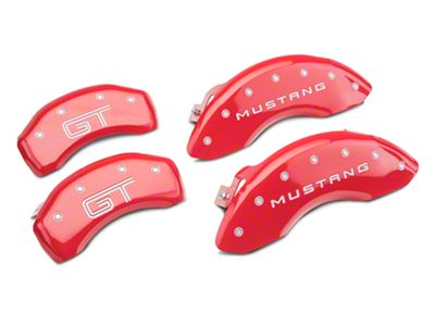MGP Red Caliper Covers w/ GT Logo - Front & Rear (10-14 Standard GT)