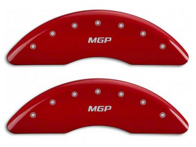 MGP Red Caliper Covers w/ MGP Logo - Front & Rear (15-19 Standard GT)