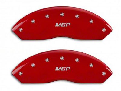 MGP Red Caliper Covers w/ MGP Logo - Front & Rear (15-19 Standard EcoBoost, V6)