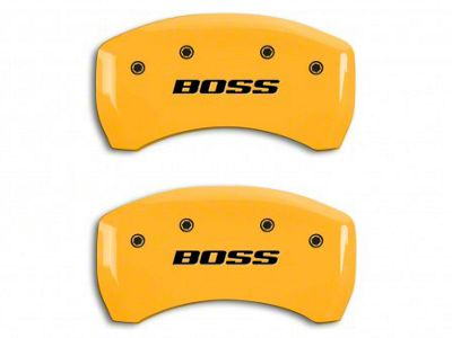 MGP Yellow Black Caliper Covers w/ BOSS Logo - Rear Only (12-13 BOSS 302)