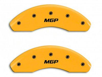 MGP Yellow Black Caliper Covers w/ MGP Logo - Front & Rear (94-98 GT, V6)