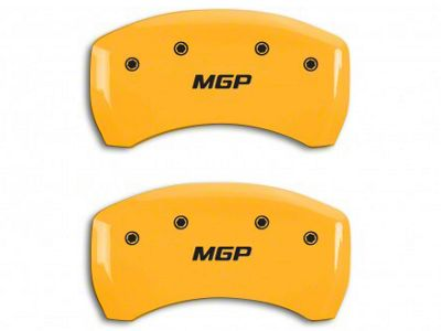 MGP Yellow Black Caliper Covers w/ MGP Logo - Rear Only (05-14 GT, BOSS 302, GT500)