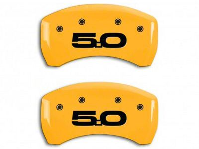 MGP Yellow Caliper Covers w/ 5.0 Logo - Rear Only (15-19 GT w/ Performance Pack)