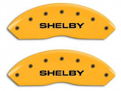 MGP Yellow Caliper Covers w/ Shelby Snake Logo - Front & Rear (10-14 Standard GT)