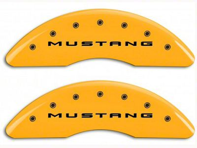 MGP Yellow Caliper Covers w/ Tri-Bar Pony Logo - Front & Rear (15-19 EcoBoost w/ Performance Pack)
