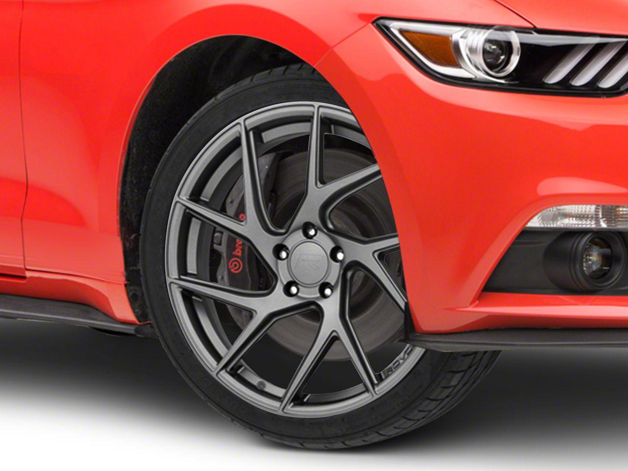 Rovos Joburg Satin Gunmetal Wheel - 20x8.5 (15-19 GT, EcoBoost, V6)