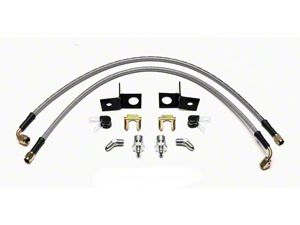 Wilwood AERO4 Caliper Flexline Brake Line Kit - Rear (15-19 All)