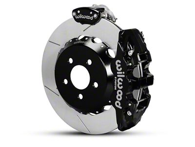 Wilwood AERO4 MC4 Rear Brake Kit w/ Slotted Rotors - Black (15-19 All)