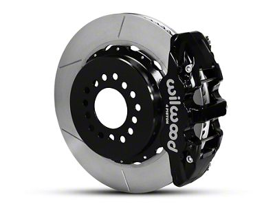 Wilwood AERO4 Rear Brake Kit w/ Slotted Rotors - Black (05-14 All)