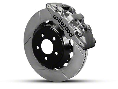 Wilwood AERO6 Front Brake Kit w/ 14 in. Slotted Rotors - Nickel (15-19 All)