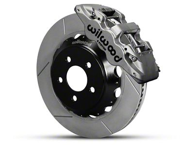 Wilwood AERO6 Front Brake Kit w/ 15 in. Slotted Rotors - Nickel (15-19 All)