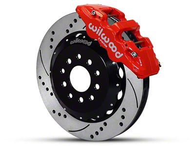 Wilwood AERO6 Front Brake Kit w/ Drilled & Slotted Rotors - Red (05-14 All)