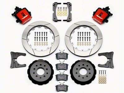 Wilwood CPB Rear Brake Kit w/ Slotted Rotors - Red (05-14 All)