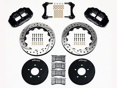 Wilwood Superlite 6R Front Brake Kit w/ 12.90 in. Drilled & Slotted Rotors - Black (94-04 All)