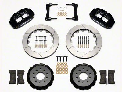 Wilwood Superlite 6R Front Brake Kit w/ 13 in. Slotted Rotors - Black (05-14 All)