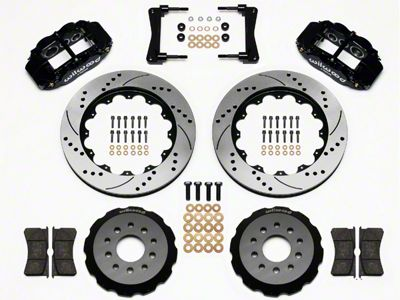 Wilwood Superlite 6R Front Brake Kit w/ 14 in. Drilled & Slotted Rotors - Black (05-14 All)
