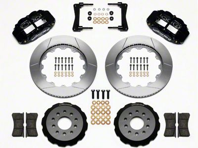 Wilwood Superlite 6R Front Brake Kit w/ 14 in. Slotted Rotors - Black (05-14 All)