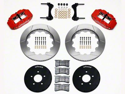 Wilwood Superlite 6R Front Brake Kit w/ 14 in. Slotted Rotors - Red (94-04 All)
