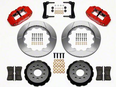Wilwood Superlite 6R Front Brake Kit w/ 14 in. Slotted Rotors - Red (05-14 All)