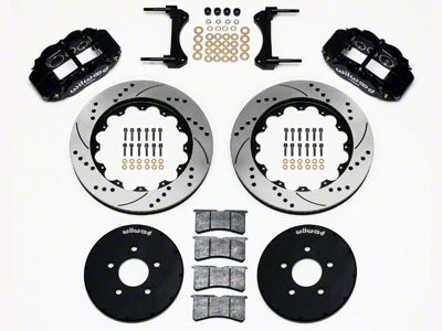 Wilwood Superlite 6R Front Brake Kit w/ 14.00 in. Drilled & Slotted Rotors - Black (94-04 All)