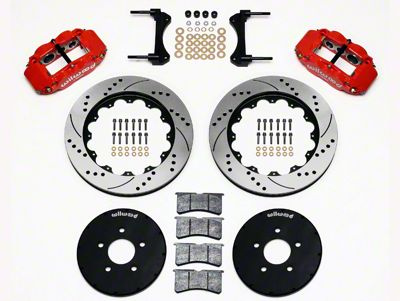 Wilwood Superlite 6R Front Brake Kit w/ 14.00 in. Drilled & Slotted Rotors - Red (94-04 All)