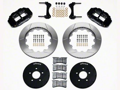 Wilwood Superlite 6R Front Brake Kit w/ 14.00 in. Slotted Rotors - Black (94-04 All)