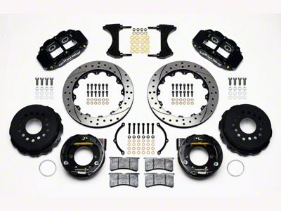 Wilwood Superlite 6R Rear Brake Kit w/ Drilled & Slotted Rotors - Black (05-14 All)